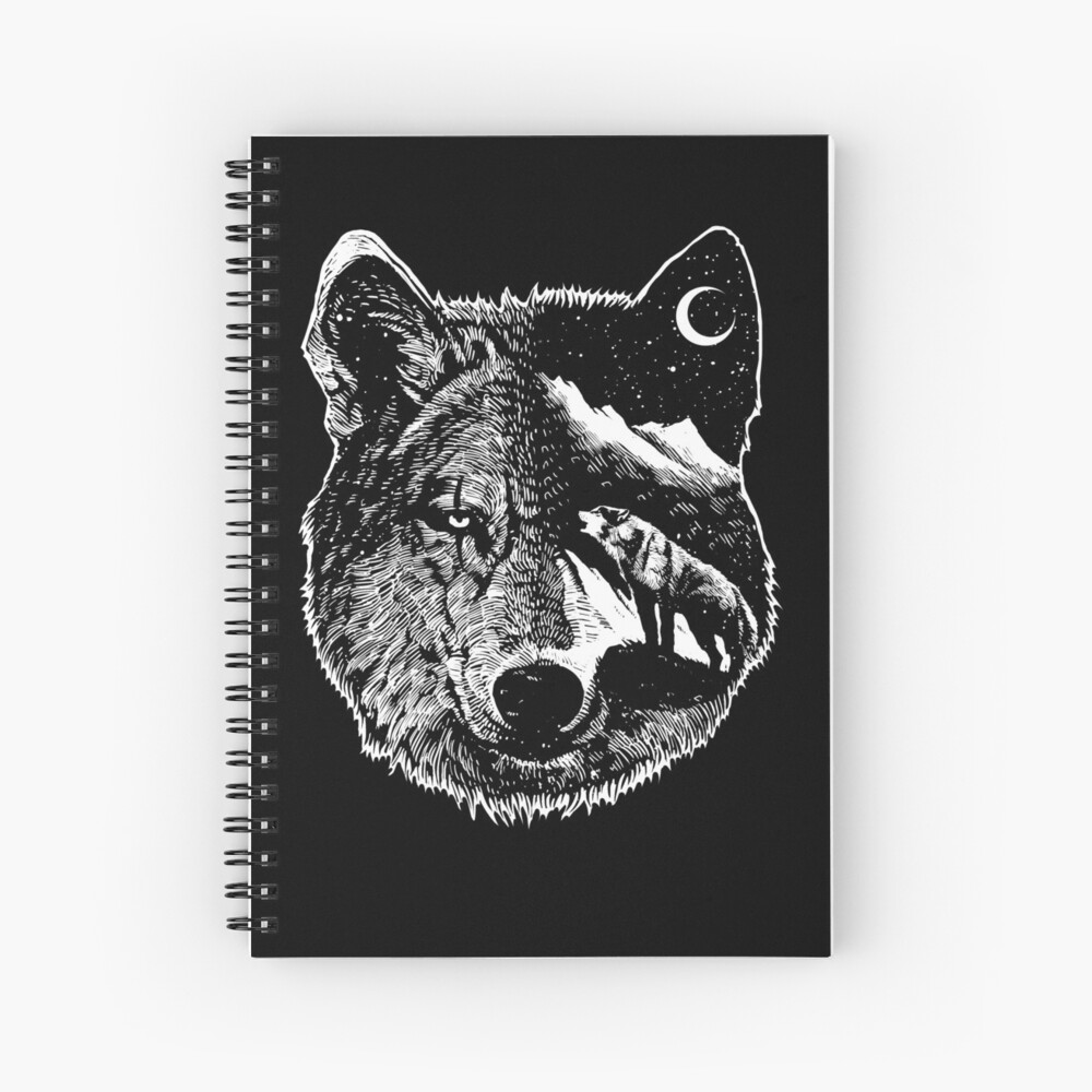 Night wolf Spiral Notebook
