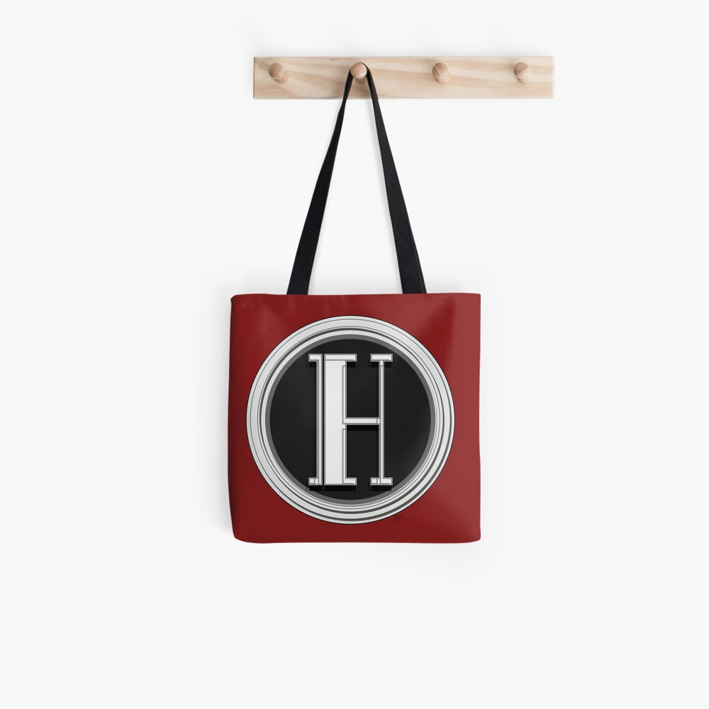 Deco Cafe Marquee  Monogram  letter H Tote Bag