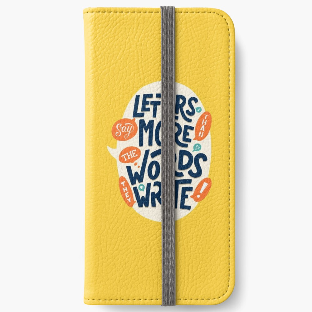 Letters say more than the words they write iPhone Wallet