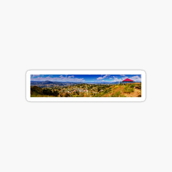 Panorama From Pachamama To Cuenca Sticker