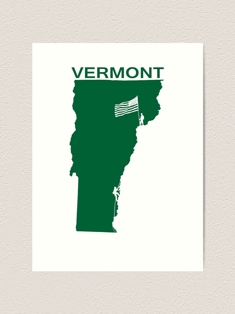 Alternate view of VERMONT Art Print