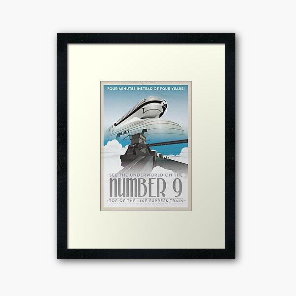 Grim Fandango Travel Posters - Number Nine Framed Art Print