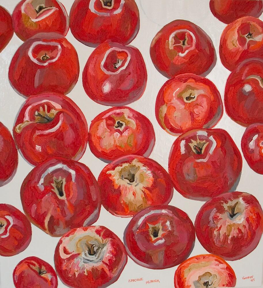Beautiful red apples by Vitali Komarov
