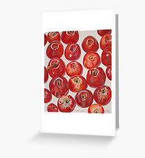 Beautiful red apples Greeting Card