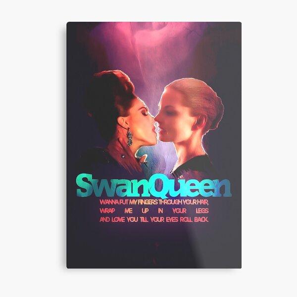 Evil Swan Queen Fanart Metal Print