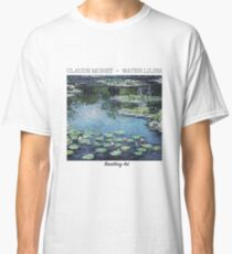 Atmende Kunst | Claude Monet, Seerosen Blau Classic T-Shirt
