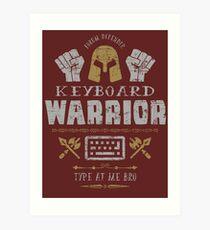 Keyboard Warrior Art Print