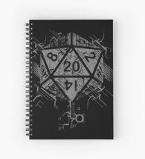 Cuaderno de espiral D20 de poder