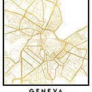 GENEVA SWITZERLAND CITY STREET MAP ART by deificusArt