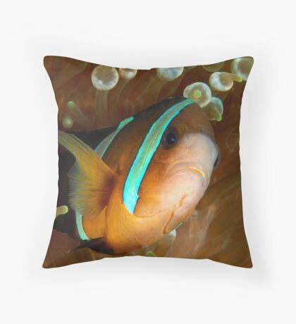 Aggresive Anemone Fish Throw Pillow