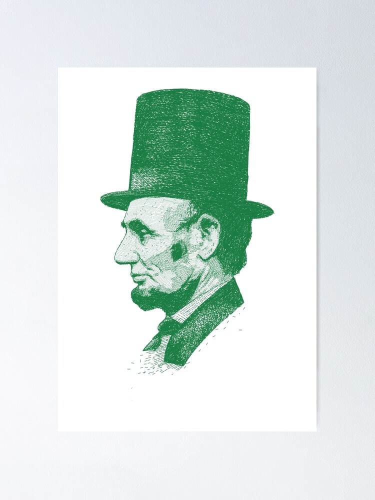 Alternate view of Abraham Lincoln Poster