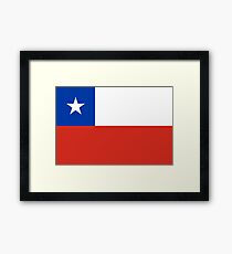 Chile Flag Products Framed Print