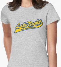 LATE NIGHT WITH DAVID LETTERMAN (CLASSIC SCRIPT LOGO) Women's Fitted T-Shirt