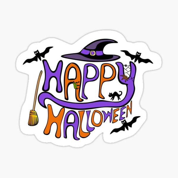Happy Halloween Typography Sticker