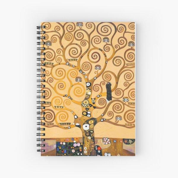 Breathing Art | Gustav Klimt, The Hug Spiral Notebook