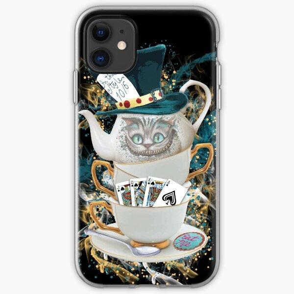 Alice in Wonderland Mad hatter Cheshire Cat iPhone Soft Case