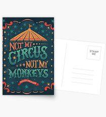 Postales No es mi circo No son mis monos