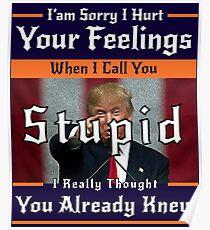 Sarcastic Trump Poster