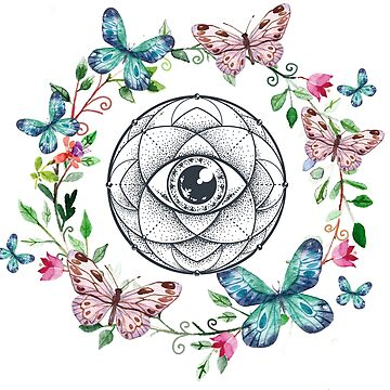 Eye Mandala Butterfly Wreath by NomadicMarket