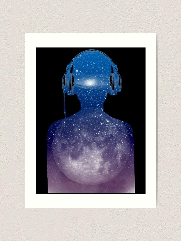 Alternate view of music space Art Print