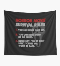 Horror Movie Rules Wall Tapestry