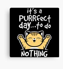 Purrfect day Canvas Print