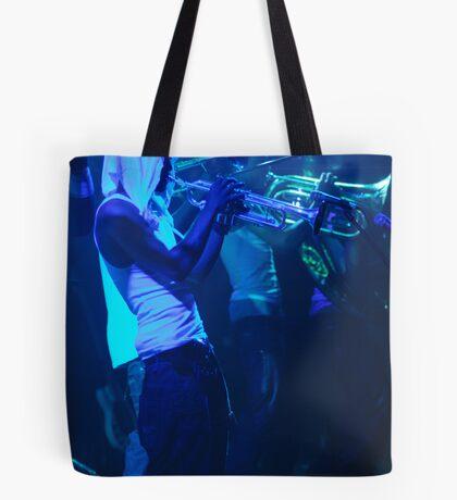 In Blue Tote Bag
