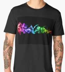 Colorful Abstract Smoke - A Rainbow in the Dark Men's Premium T-Shirt