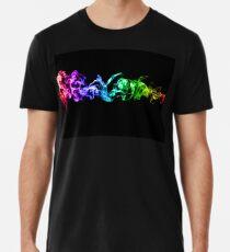 Bunter abstrakter Rauch - ein Regenbogen in der Dunkelheit Premium T-Shirt