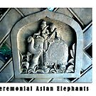 Elephant Series #12 Statues Made for Ceremonies by Keith Richardson
