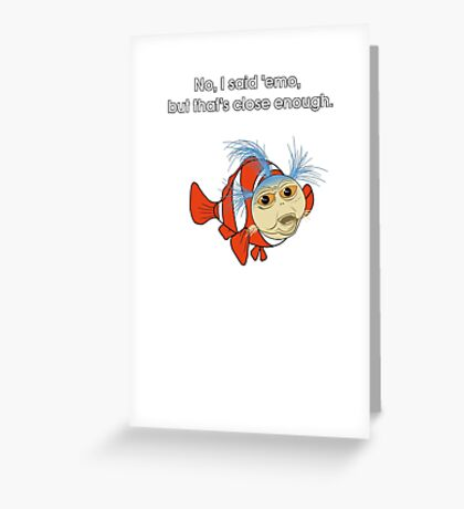 Finding emo in the labyrinth Greeting Card
