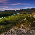 Big Bend Sky and River by StonePics