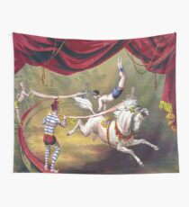 Circus Tent, Acrobat, Clowns Wall Tapestry