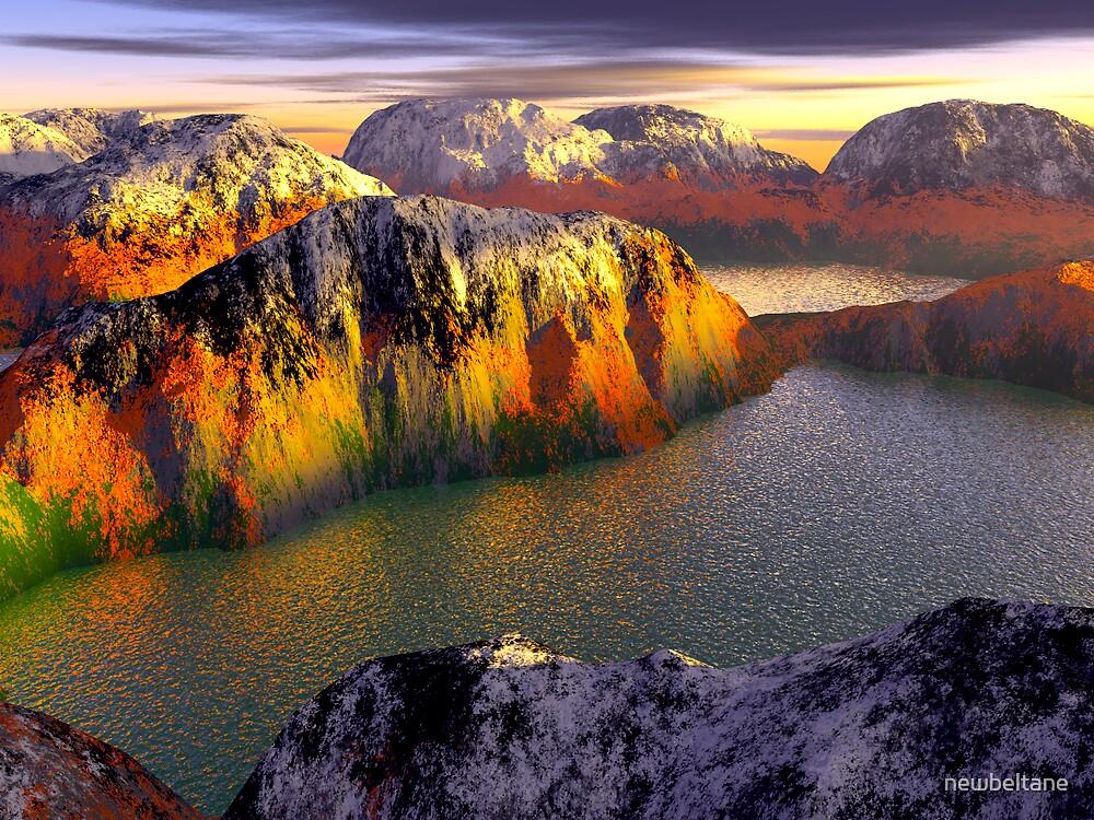 Mountains of Attika by newbeltane