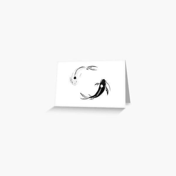 Yin Yang Koi - Avatar Greeting Card