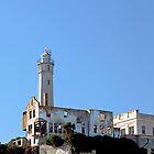 Alcatraz Island Lighthouse -  San Francisco California by Buckwhite