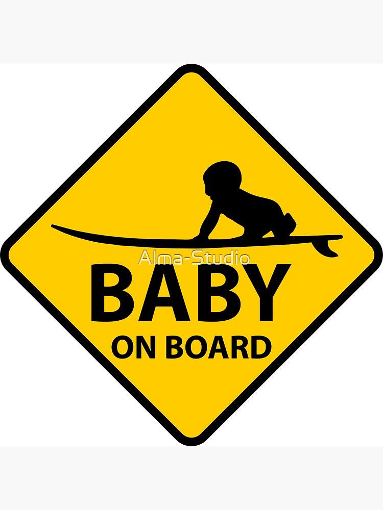 Baby on Board, surf board by Alma-Studio