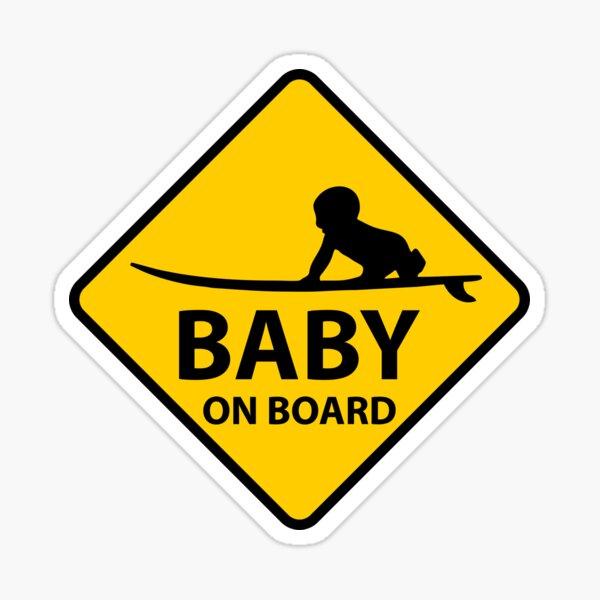 Bebé a bordo, tabla de surf Pegatina