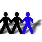 Group Man Blue by Henrik Lehnerer