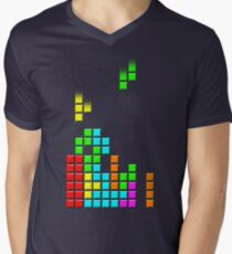 #1 TETRIS FAN Men's V-Neck T-Shirt