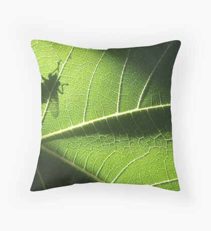 green gremlin Throw Pillow