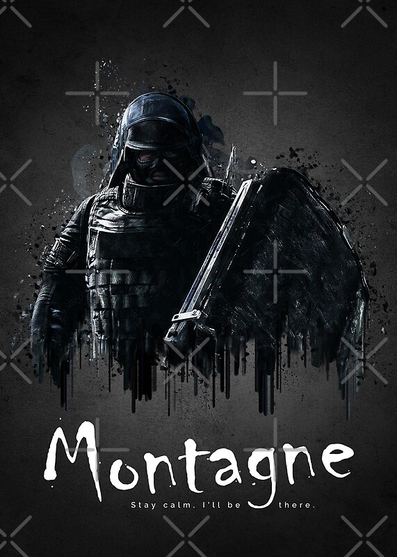 operator montagne from rainbow six siege posters by traxim redbubble. Black Bedroom Furniture Sets. Home Design Ideas