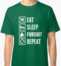 Eat, Sleep, Fursuit, Repeat Again... Classic T-Shirt