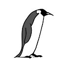 Emperor Penguin - Bird Illustration in Black and White by Hannah Sterry