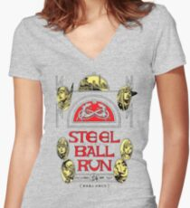 Steel Ball Run #24 Fitted V-Neck T-Shirt