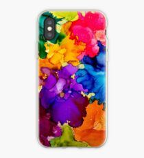 Tropical Explosion Original Alcohol Ink Artwork iPhone Case