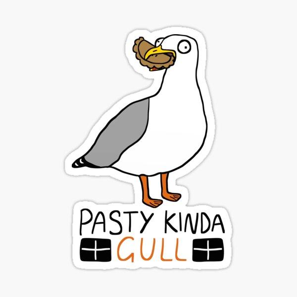 pasty kinda gull Sticker