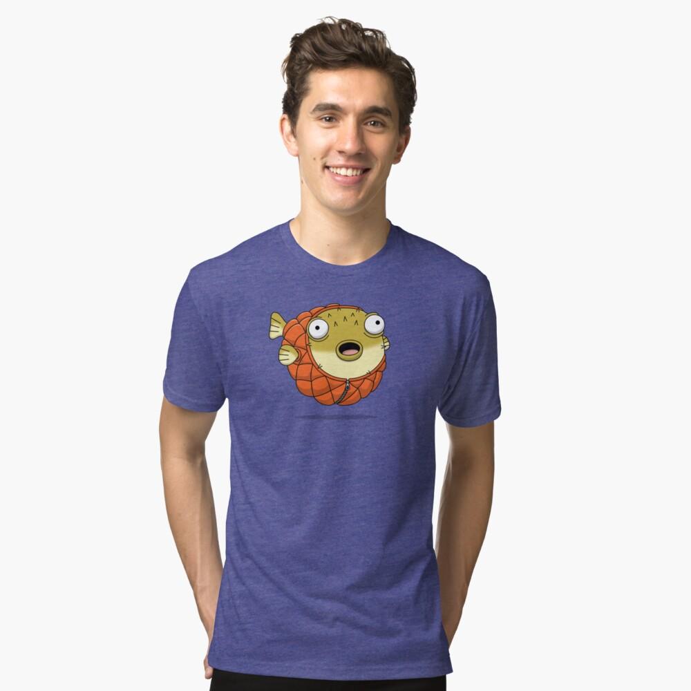 Puffer fish Tri-blend T-Shirt