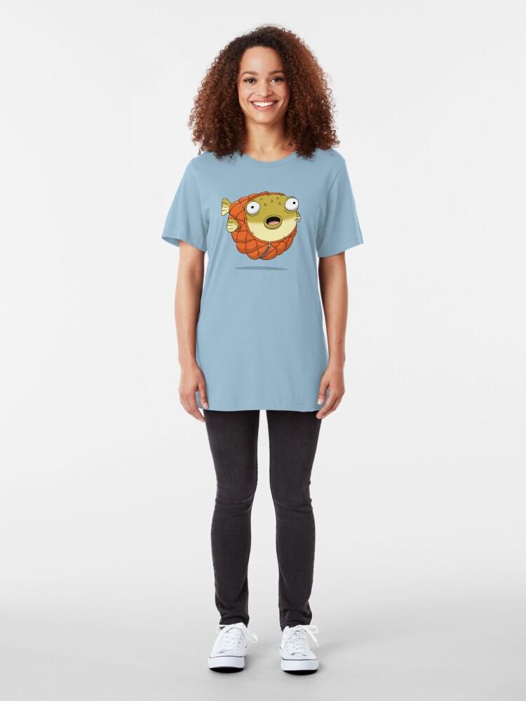 Alternate view of Puffer fish Slim Fit T-Shirt