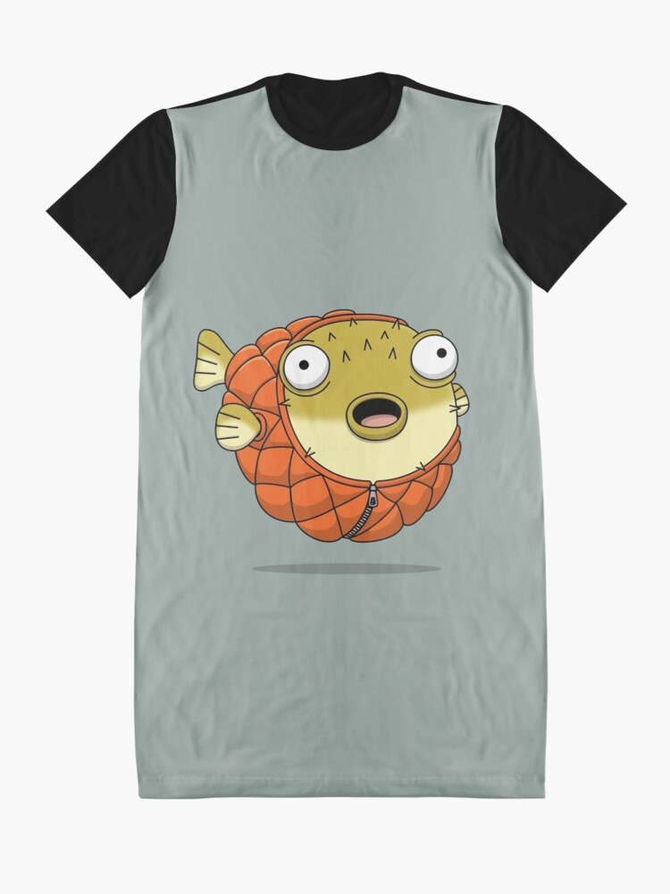Alternate view of Puffer fish Graphic T-Shirt Dress